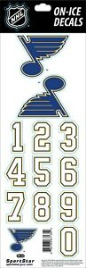ST. LOUIS BLUES NHL LICENSED OFFICIAL ON-ICE BLUE HELMET DECALS