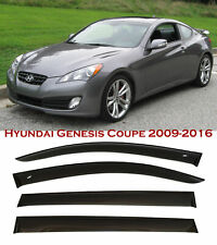 For 2009-2016 Hyundai Genesis Coupe Window Smoke Visor Rain Sun Guard Deflectors