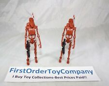 Star Wars Legacy Collection Droid Factory Red Battle Droid Loose Figure Lot