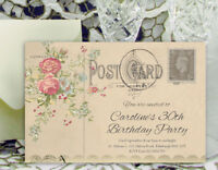 50 PARTY INVITATIONS PERSONALISED 18th 21st 30th 40th 50th 60th Birthday Invites