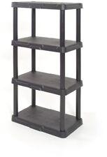 Blue Hawk 48-in H x 22-in W x 14.25-in D 4-Tier Plastic Freestanding Shelving