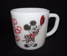 Vintage Mickey Mouse Club Coffee Mug Milk Glass Cup Mickey Mouse Ringmaster Tea