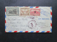 El Salvador 1952 Express Airmail Cover to USA / Light Creases - Z7216