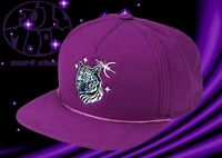 New Coal The Lore White Tiger Purple Snapback Cap Hat