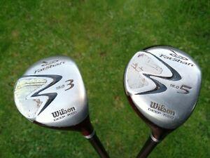 Wilson Fat Shaft Deep Red 3+5 Woods Graphite Stiff . 15+18 °. Golf clubs.