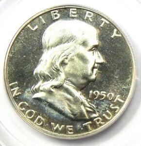 1950 PROOF Franklin Half Dollar 50C Coin - PCGS PR65 Cameo (PF65) - $2000 Value!