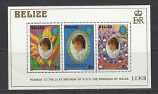 BELIZE - 624 S/S - MNH - 1982 - 2IST BIRTHDAY PRINCESS OF WALES