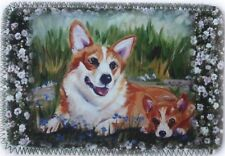 CORGI PUPPY DOG MINI IPAD COVER NEOPRENE OIL PAINTING PRINT SANDRA COEN ARTIST