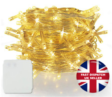 200 LED Battery Power Operated Christmas String Fairy Lights, Warm White