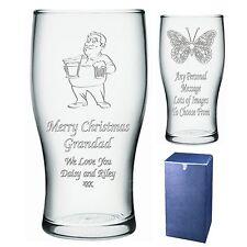Personalizado Pint Glass Grandad Abuelo Papa bampa Regalo De Navidad-IMI