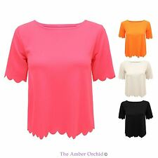 Party No Pattern Short Sleeve Scoop Neck Women's Tops & Shirts