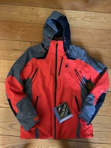 Men's SPYDER Copper Gore-Tex Insulated Ski Jacket Coat with Removable Hood NWT S