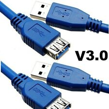 Super Fast USB 3.0 Extension Cable Metre & USB 2.0 Lead 1M/1.5M/2M/3M Meter lot