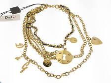 D&G collana Multiple acciaio dorato con charms referenza DJ0507 new