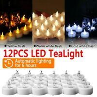 Flameless LED Elektrisch Teelicht Timer Kerzen Teelicht Kerze 12pc Mit ! 1 ! I