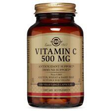 Solgar Vitamin C 500 mg - 100 Vegetable Capsules FRESH, FREE SHIPPING