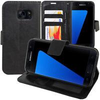 Accessoire Housse Etui Coque Portefeuille Cuir Video Samsung Galaxy S7 G930F