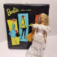 Vintage 1961 Barbie Ponytail Black Doll Case Mattel w/ Barbie Doll Included