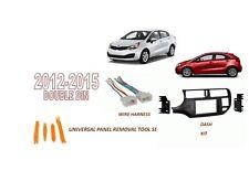 Fits KIA RIO, RIO 5 2012-2015 Car Stereo Double DIN Dash Kit, Wire Harness