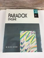 Paradox Engine 2.0 Users Guide Borland C Pascal Reference Guide New Sealed
