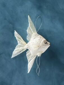 NWT Anthropologie Angel Fish Ornament Sold Out New Dory White Christmas Ocean