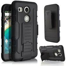 For LG Nexus 5X Case Cover Protector Armor Kickstand Holster Belt Clip Combo