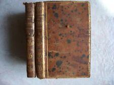 BIBLIOTHEQUE UNIVERSELLE DES DAMES / MATHEMATIQUES / ALGEBRE /2 Volumes / 1789