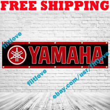Yamaha Motorcycle Racing 2x8 ft Banner Show Garage Wall Decor Sign Gift 2019