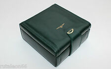 LONGINES Original watch presentation green leather vintage box (Caja de reloj)