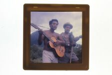 Voyage Tahiti Musiciens Diapositive sur Film souple cellulose