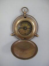 G1087: Gründerzeit Sprungdeckel Kompass mit Klappdeckel, Taschenuhren Kompass