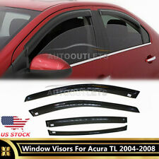 Front + Rear 4 pcs Vent Shade Window Visors For 2004-2008 Acura TL Accessories