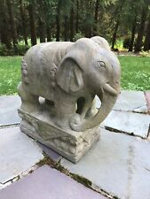 Stone Elephants~Hand Carved Garden, Path,Entrance,Large Statues~Sculpture~Norway