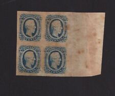 Sheet of four 10 Cents JEFFERSON DAVIS Confederate States of America US Stamp