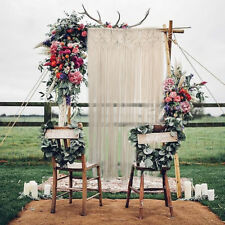 Macrame Wall Curtain Hanging Tapestry Room Divider Door Window Wedding Backdrop