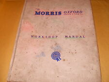 The Morris Oxford Series V & VI Workshop Manual - As Photo's
