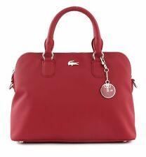 LACOSTE Daily Classic S Bugatti Bag Handtasche Umhängetasche Tasche Rhubarb Rot
