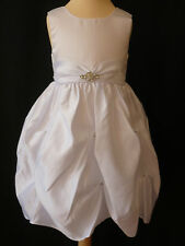 Girls White With Diamond Design Fluffed Party Dress Age 2 - 3 Years UK