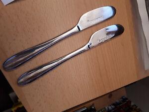 zwei Nutella Streichmesser in Edelstahl, 21,5 cm