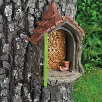 Fairy Garden Landing Pad by Fiddlehead- 2 Part Fairy House Set for Trees/Posts