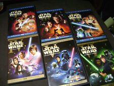 Star Wars COMPLETE SAGA  DVD Lot 1-6 -Trilogy/ Prequels  6 Movies 1 2 3 4 5 6