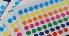 700 Sticky Dots Größe 8 mm Durchmesser - Mehrfarbige Kreise