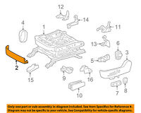 TOYOTA Genuine 71874-74010-C0 Seat Cushion Shield