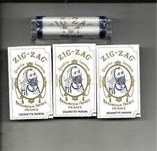 ZIG ZAG 70 MM 1.0 SIZE CIGARETTE ROLLING MACHINE WITH 3 PACKS REGULAR PAPERS