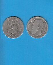 § Belgique Léopold II Silver Coin 1 Franc argent 1886 Légende Flamande