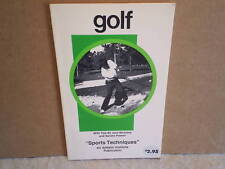 """1977 GOLF """"SPORTS TECHNIQUES"""" PAPERBACK  WithTips By Jack Nicklaus,Sandra Palmer"""