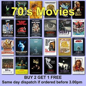 Poster Classic Movie Posters 1970s 70s Film Poster Movies HD Borderless Printing