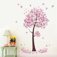 Kinder Schmetterlinge Baum Wandtattoo Wandsticker Wandaufkleber Deko Sticker