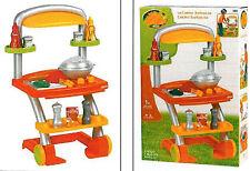 Spielküche Griller Kindergrill Grillwagen mit Zubehör