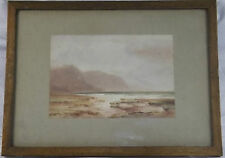 Original Water Colour Of Unknown Seascape By Watercolourist A S? 1891 Frank Hall